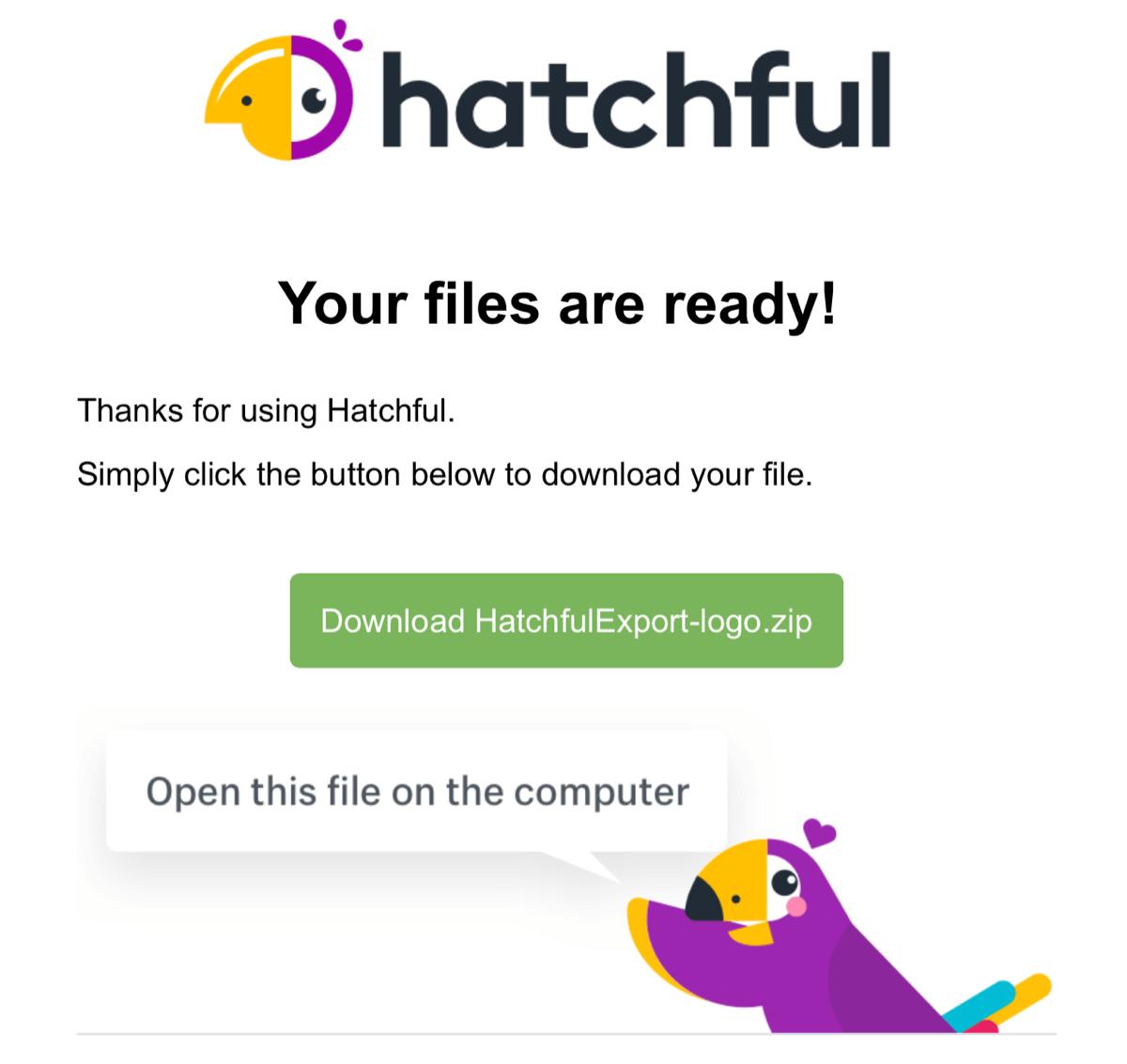 メールにzipファイルが添付