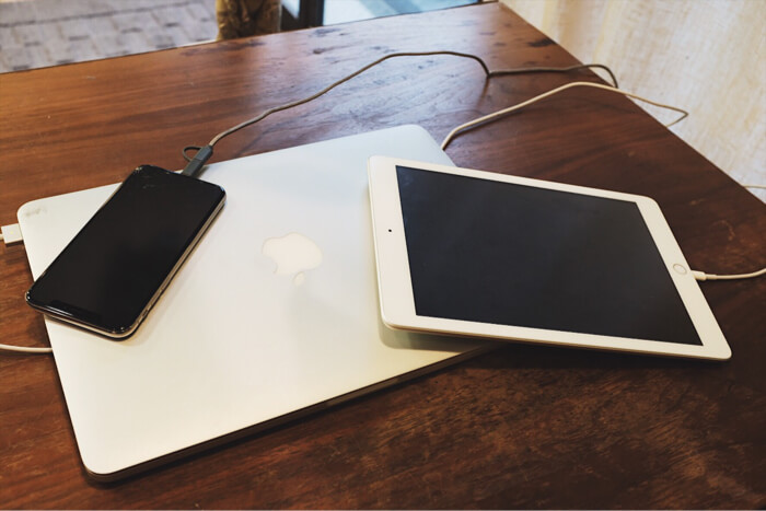 同時に何個ものデバイスを充電することが可能