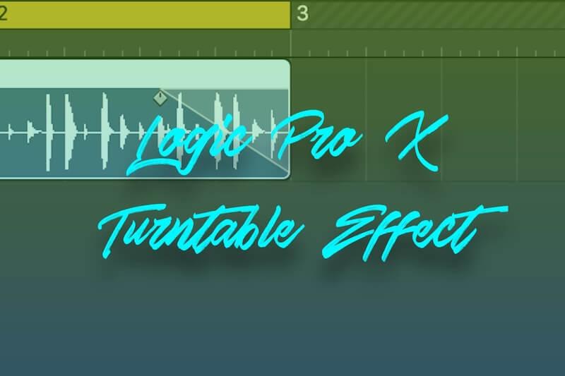【Logic Pro X】ターンテーブルのスピードアップ・ダウンのようなエフェクトをかける方法
