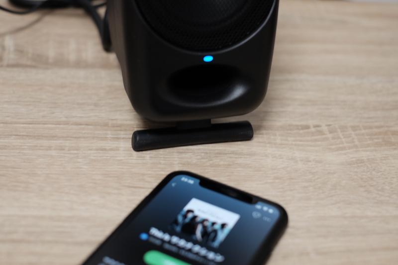 Bluetoothの場合は青いLED