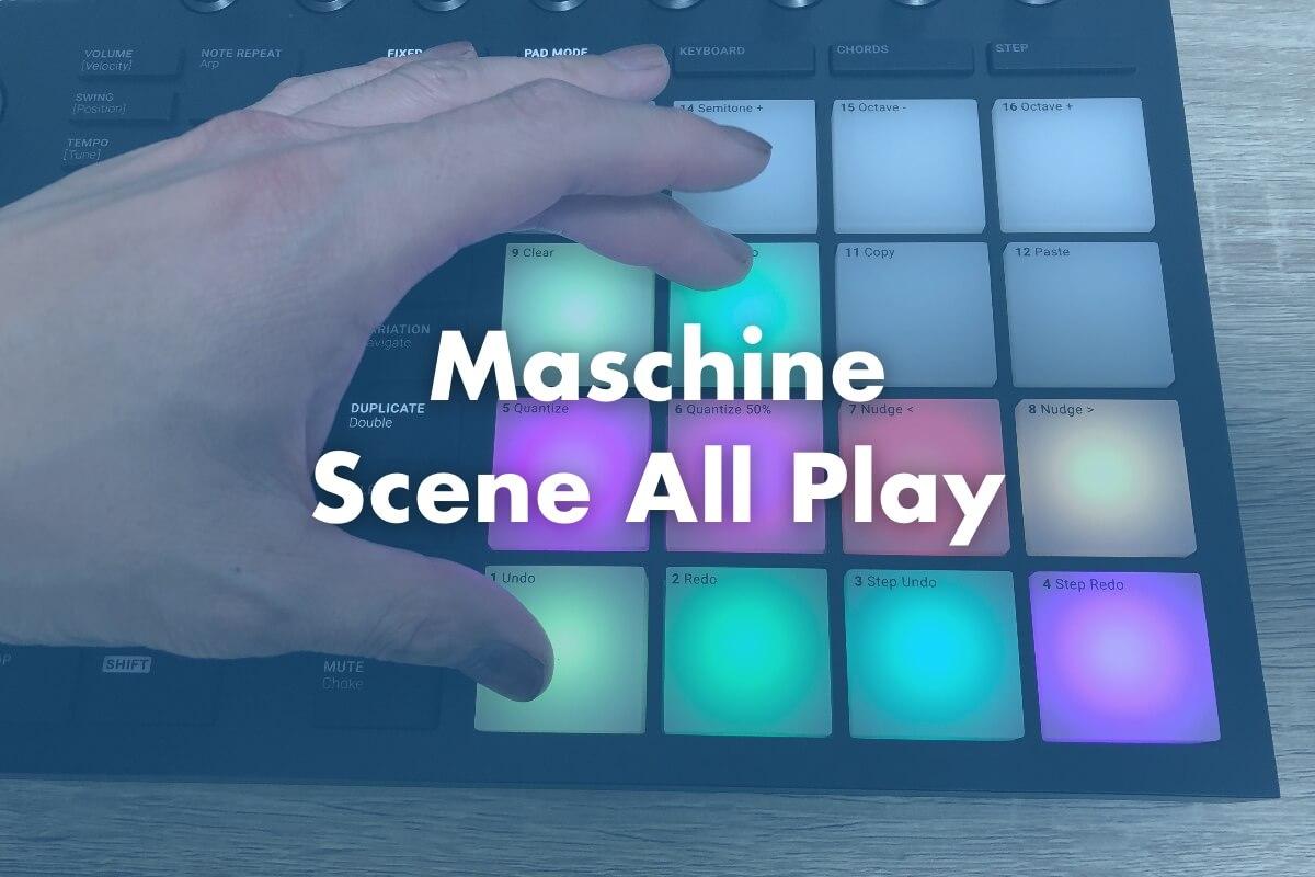 【Maschine】全てのシーンを最初から最後まで再生する方法