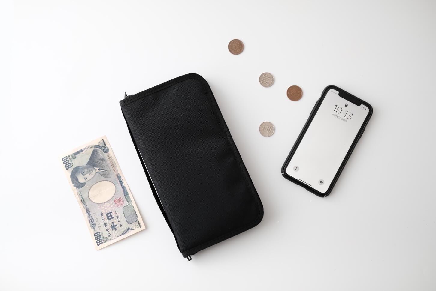 財布を無印良品のパスポートケースにしたら身軽になった