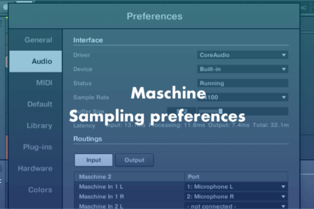 Maschine mk3でiPhoneやiPadからサンプリングする設定と方法