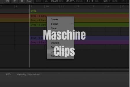 【Maschine】楽曲にアレンジ・展開を加える「Clips」機能の解説