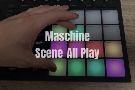 【Maschine】Maschineハードウェアで全てのシーンを最初から最後まで再生する方法