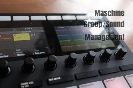 Maschine MK3ハードウェアでパッドのカラー変更やサウンド・グループを管理する方法