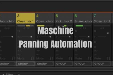 Maschineでパンニング(音の左右の振り)のオートメーションを記録・録音する方法